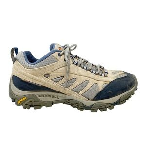 Merrell | Mesa Ventilator Hiking Shoes with Vibram Soles in Blue Grey Size 9